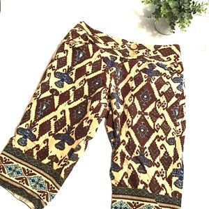 Plenty by Tracy Reese Indian Print Silk Shorts